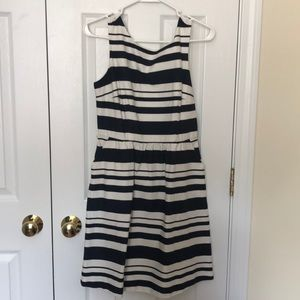 The Limited blue and white dress